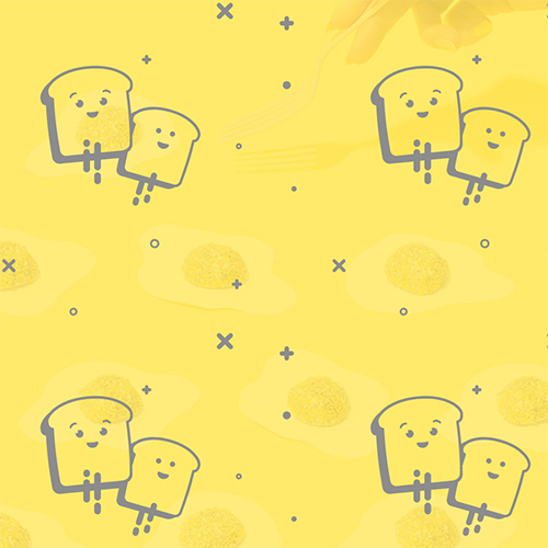 Free SVG background pattern of happy toast. Configure foreground and background colors, adjust scale and copy css and paste into your website.